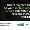 Direct targetted traffic to your mobile website or app.